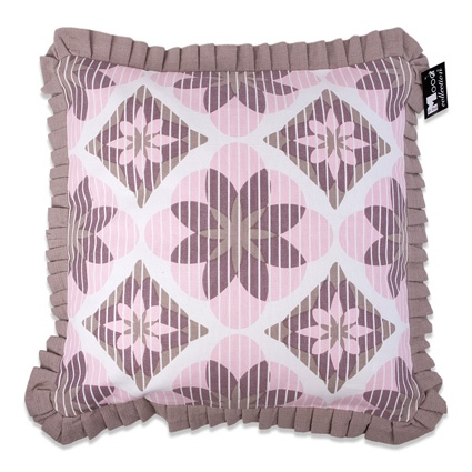 SIERKUSSENHOES ROMANTIC 50X50CM SOFTPINK