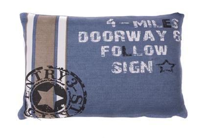 LENDEKUSSEN DOORWAY 30X45CM FADED BLUE