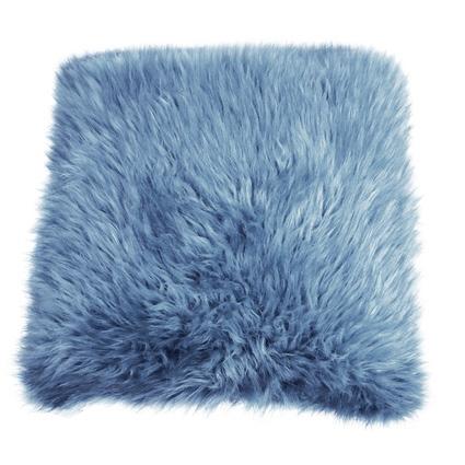 KUSSEN HARIG BONT 50X50CM FADED BLUE