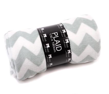 Fleece plaid zigzag mint