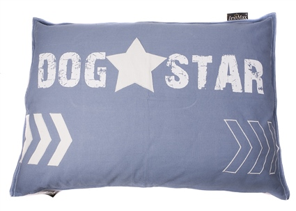 Kussen dog star faded blue woonkussens